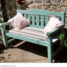 green bench cushion ellister 2 seater bench cushion green stripe 110cm on sale
