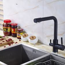 oil rubbed bronze kitchen faucet dual spouts single handle deck oil rubbed bronze kitchen faucet dual spouts single handle deck mounted mixer tap in kitchen faucets from home improvement on aliexpress com alibaba group