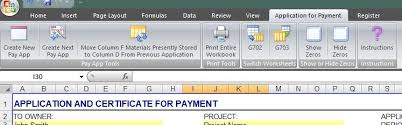 Aia G702 Excel Template Aia G702 Application For Payment And G703 Continuation Sheet