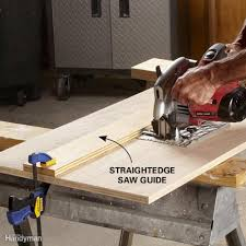 use circular saw as table saw tips for ripping wood family handyman