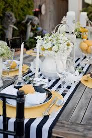black and white wedding ideas modern yellow and black and white stripes wedding ideas