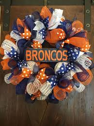 25 unique broncos wreath ideas on pinterest denver broncos