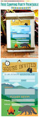 Free Printable Halloween Birthday Invitations Kids by 25 Best Camping Birthday Invitations Ideas On Pinterest Camping