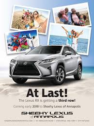 lexus rx 2018 model lexus rx l latest luxury suv information from sheehy lexus of