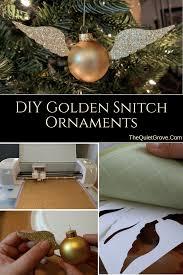 diy golden snitch ornament the grove
