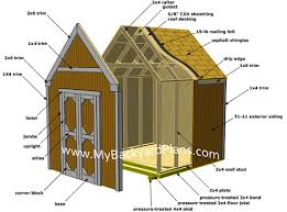 Floor Plans For Sheds How To Build A Gable Storage Shed Pictures And Step By Step