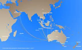Flight Routes Map by Maps Linc Logistics Information U0026 Navigation Centre