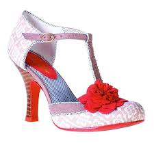 Shoo Fast ruby shoo ruby shoo womens flower mid high heel courts shoes