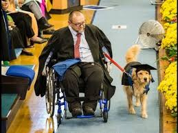 dog graduation cap and gown nmmu graduation 2016 heinrich williams and his service dog