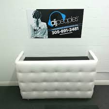 booth rental white tufted leather dj booth rental dj backline rental services