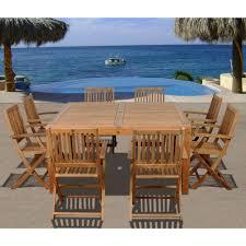 dining room sets 9 piece amazonia bahamas square 9 piece eucalyptus patio dining set
