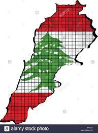 Map Of Lebanon Lebanon Map With Flag Inside Illustration Lebanese Map Grunge