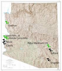 Show Me A Map Of Arizona by Arizona Geology