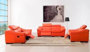 compare prices on orange leather sofa set online shopping buy low