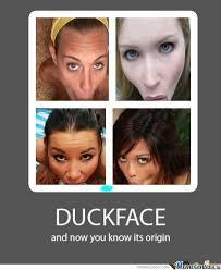 Origin Of Meme - the origin of the duck face by deansmith1197 meme center