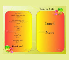 lunch menu template free 30 lunch menu templates free sle exle format
