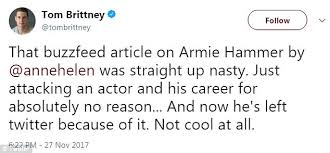 armie hammer quits twitter over bitter buzzfeed article daily