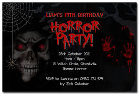 spooky horror personalised birthday invitation