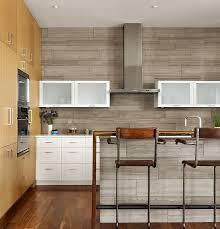 Concrete Tile Backsplash by Villa Sleek Modern Bathroom Design With Concrete Tile Backsplash