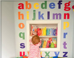 Alphabet Wall Decals For Nursery Alphabet Wall Decals Etsy