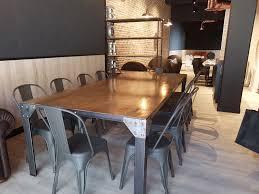 deco cuisine style industriel meuble de cuisine style industriel tourdissant table de avec