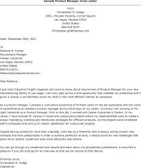 product manager cover letter resume badak