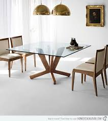 Brilliant Modern Square Glass Dining Table Top  Modern Square - Brilliant small glass top dining table house