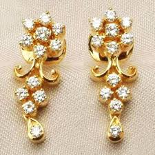 gold earrings online buy gold earrings online real certified 0 50 ct 18k gold