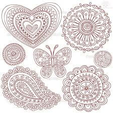 paisley pattern henna tattoo designs angela art pinterest