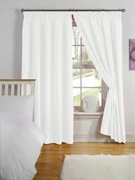 lined bedroom curtains ready made simply style white thermal backed readymade curtain pair 66x72in