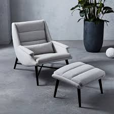 Chair And Ottoman Swoop Chair Ottoman West Elm