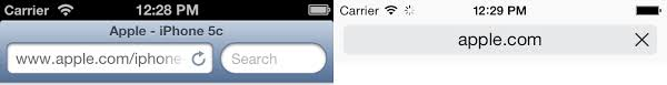 Iphone 5 Top Bar Icons Safari On Ios 7 And Html5 Problems Changes And New Apis