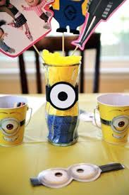 minion centerpieces diy despcable me minion centerpieces for birthday party ღ