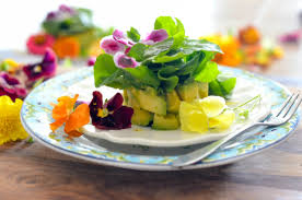 edible flowers avocado and watercress salad with edible flowers karista s kitchen