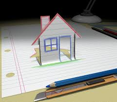 sketch your dream house royalty free stock image image 2853506