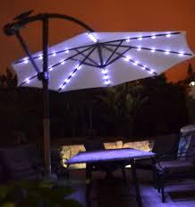 Patio Umbrella Lights Led Awesome Solar Lighted Patio Umbrella Offset Patio Umbrella Solar