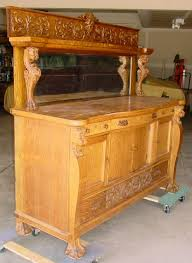 1880 1890 u0027s oak bufffet sideboard w lions u0026 claw feet southwest