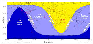 Sunrise Sunset Map Nasa Predictions For The 2004 Transit Of Venus
