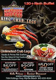Seafood Buffets In North Myrtle Beach by Crabby Georges Seafood Buffet In Myrtle Beach Sc Yellowbot