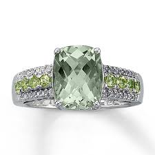 peridot engagement rings green amethyst ring peridot diamond accents 10k white gold