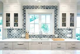 glass tile backsplash pictures for kitchen cool blue backsplash tile white and blue kitchen boasts white shaker