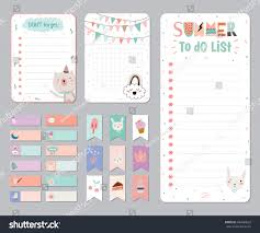 cute calendar daily weekly planner template stock vector 446684023