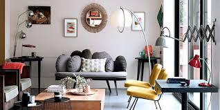 salon sans canapé salon moderne mixant les styles
