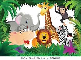 safari cartoon safari cartoon vector illustration of saari cartoon eps vectors
