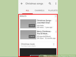 how to make a youtube playlist for christmas with pictures