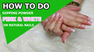 how to do pink u0026 white dipping powder sns nails dipping