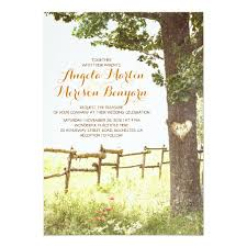wedding tree rustic country heart tree wedding invitation zazzle