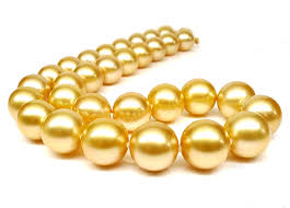 gold pearls necklace images Golden south sea pearl necklace 10 12mm 18inch 14k yellow gold jpg
