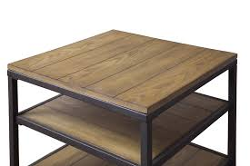baxton studio caribou wood and metal end table affordable modern