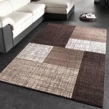 designer teppich designer teppich modern kariert kurzflor teppich design meliert in